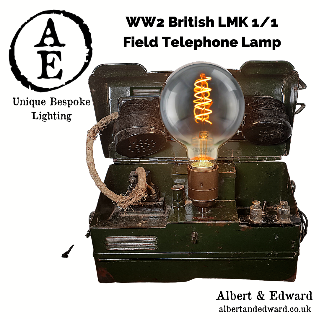 WW2 Military field telephone Lamp