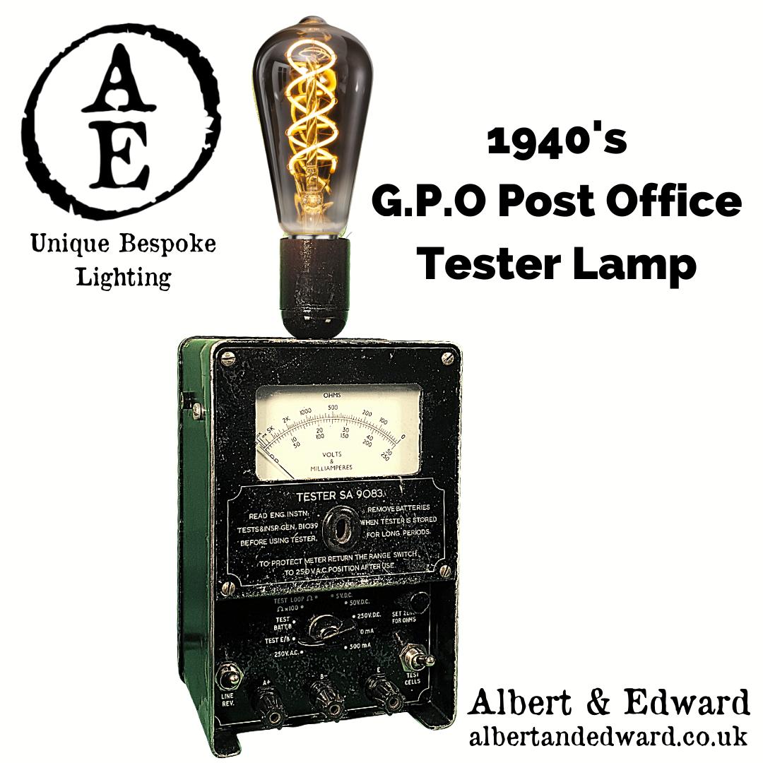 1940's G.P.O Post Office Tester Lamp