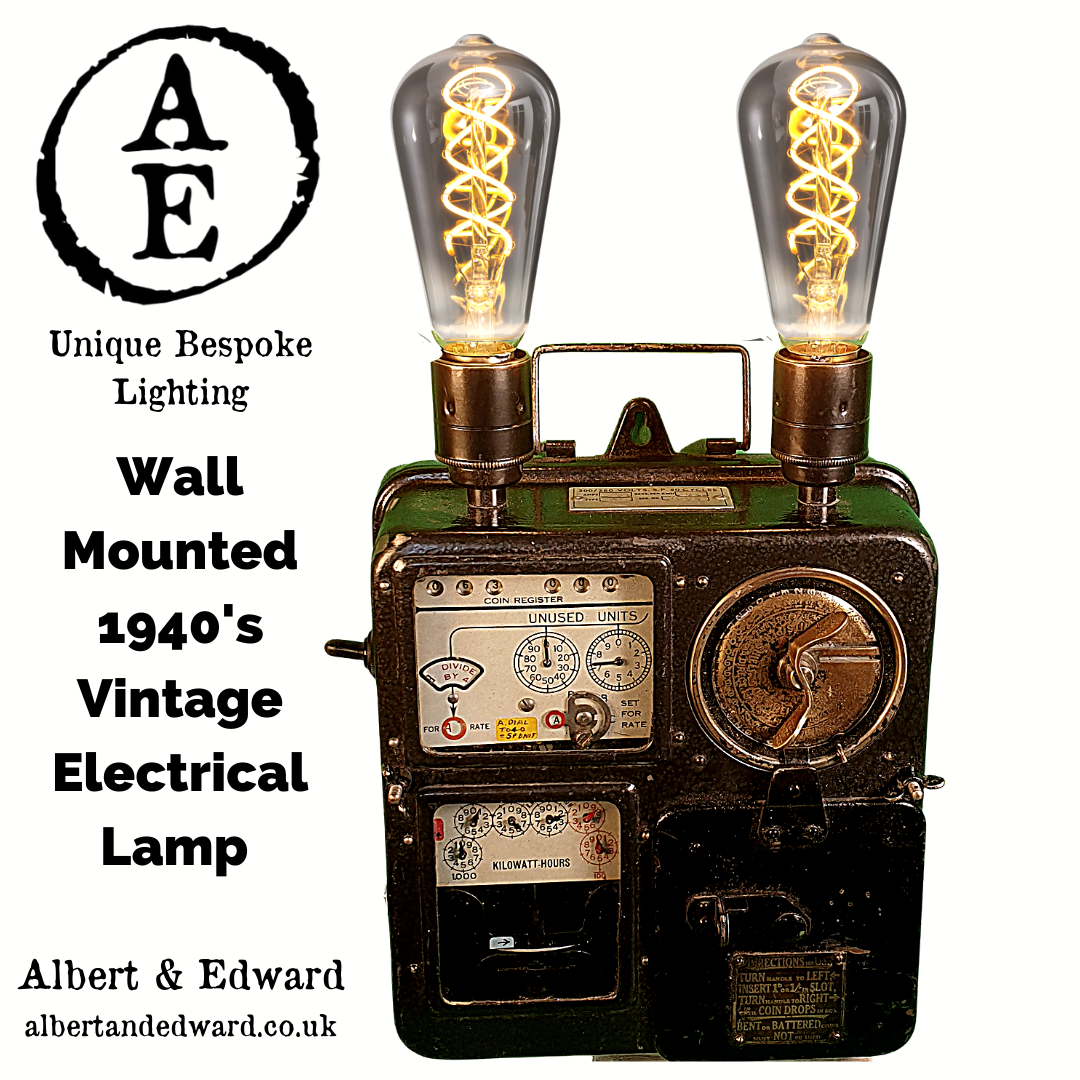 Wall Mounted 1940's Coin Meter Lamp