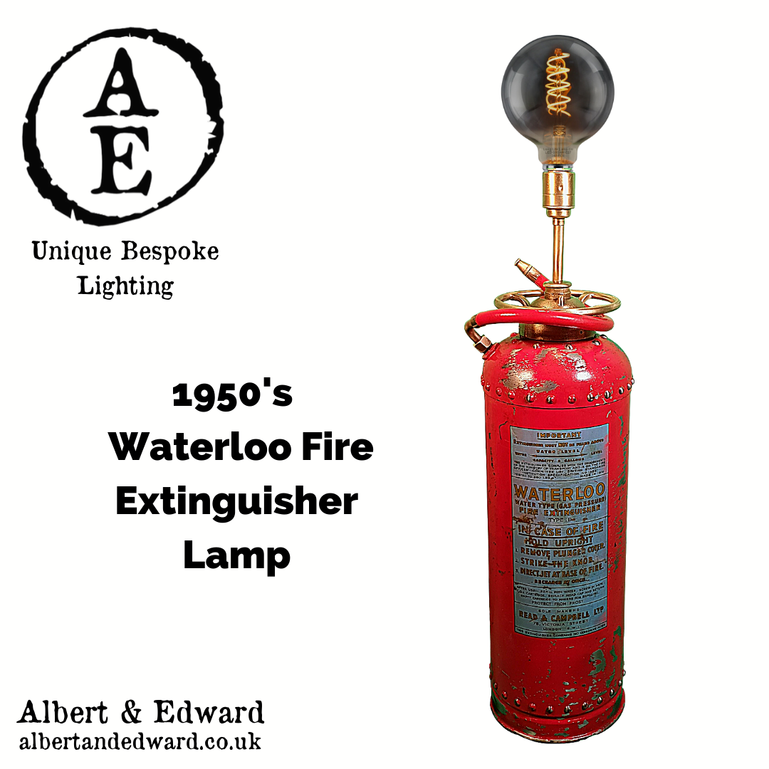1950's Waterloo Fire Extinguisher Lamp