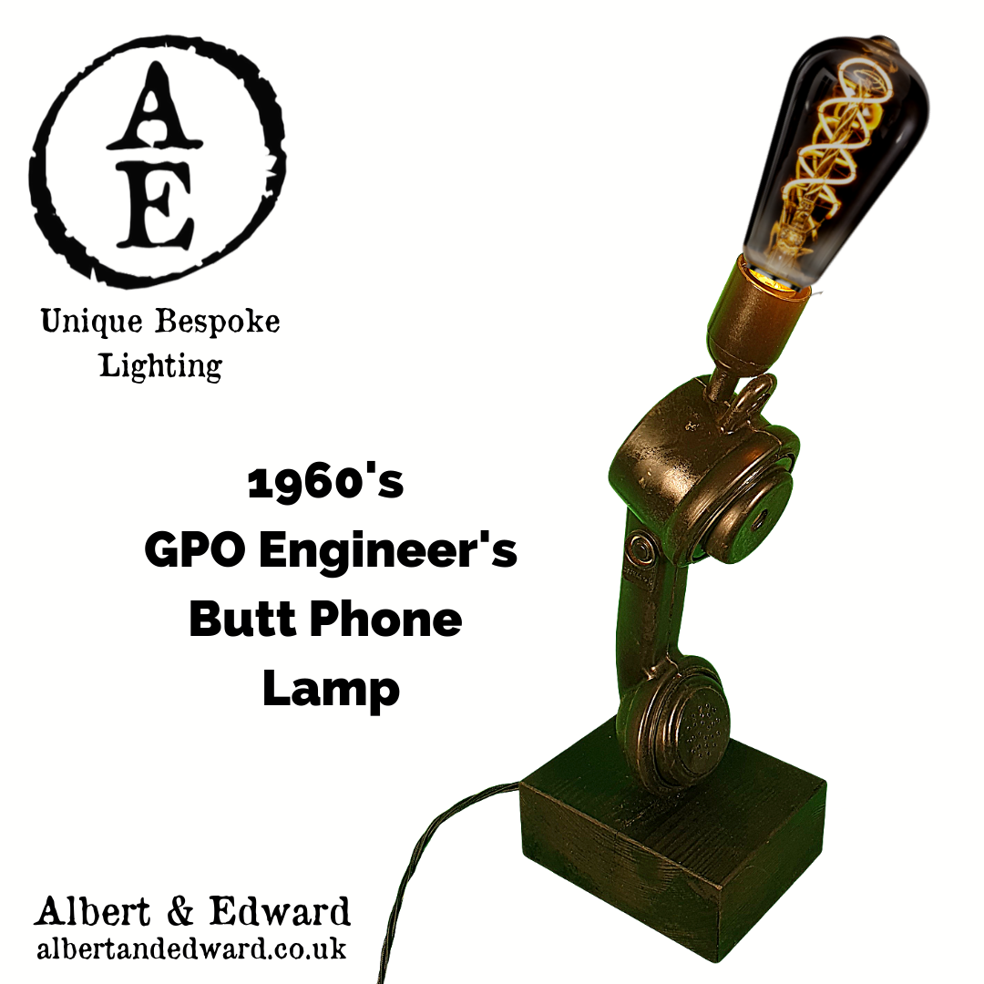 1960's GPO Engineer's Butt Phone Lamp
