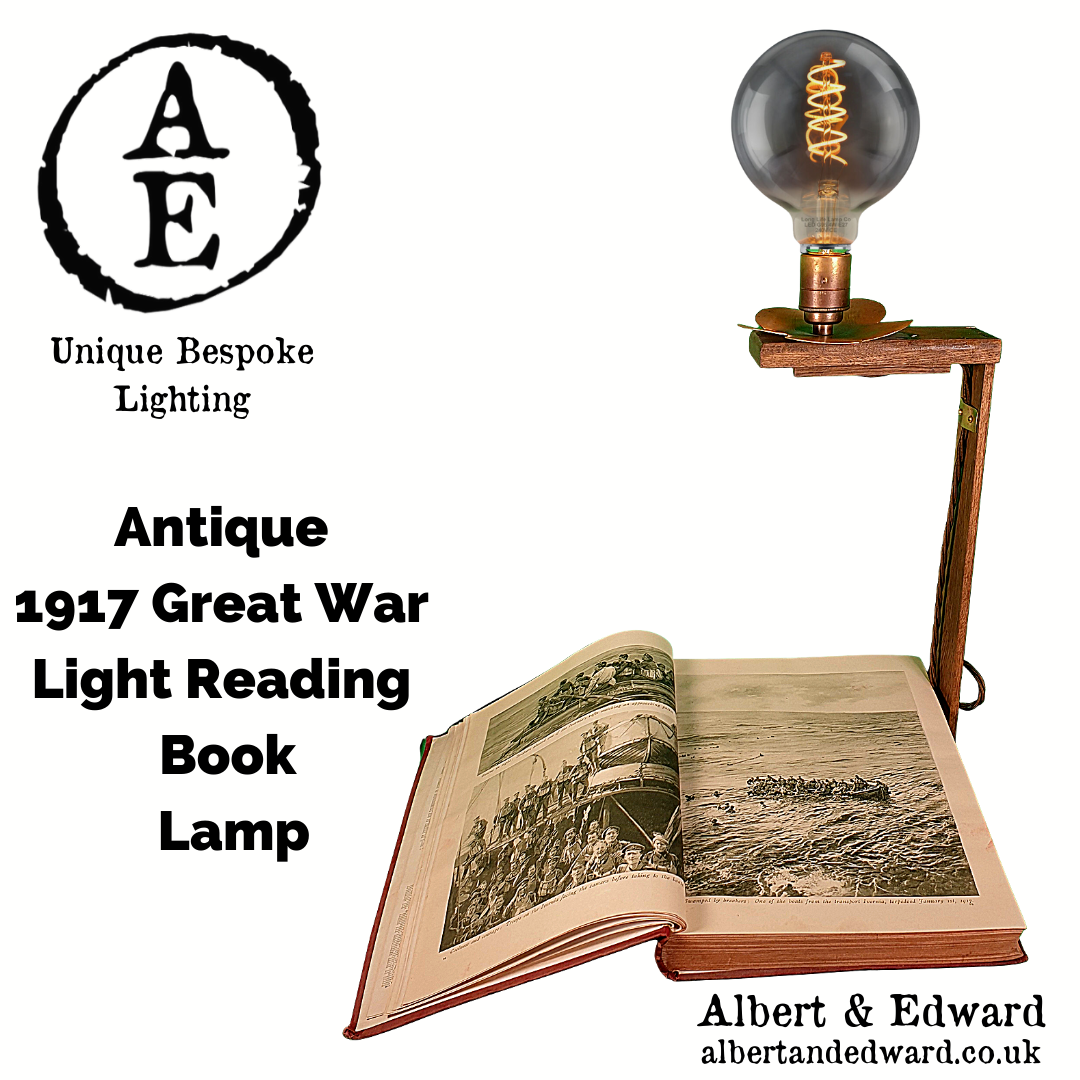Antique  1917 Great War  Light Reading  Book Lamp 4.png