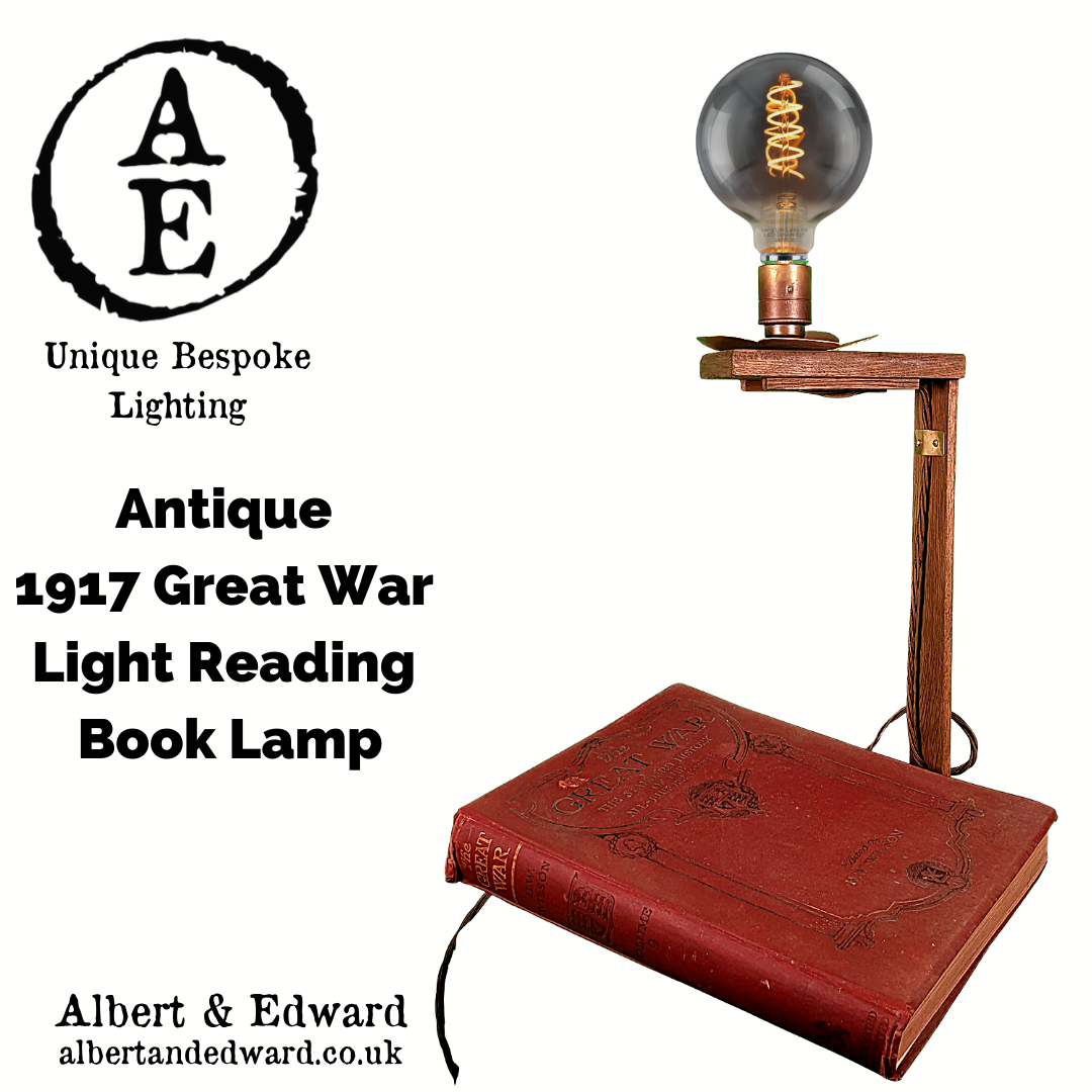 Antique  1917 Great War  Light Reading  Book Lamp 3.png