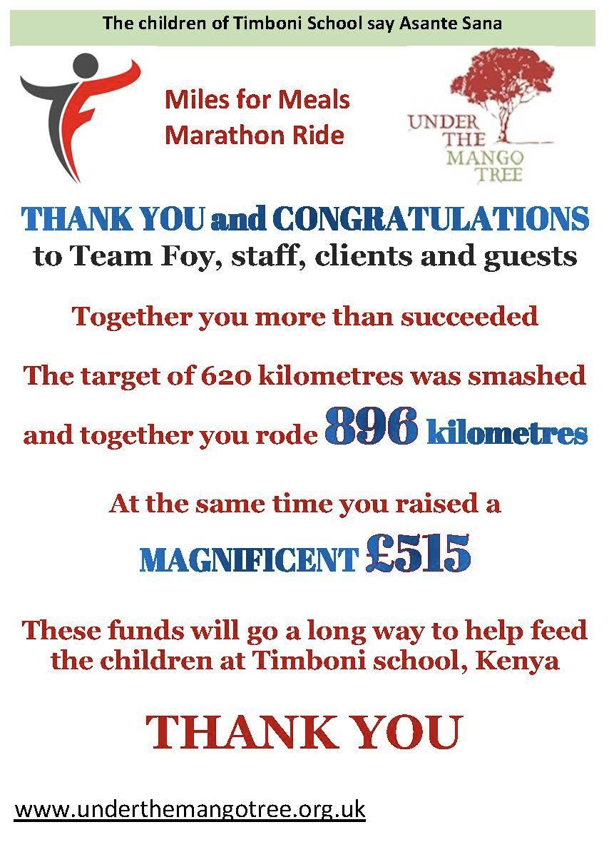 Team Foy thank you