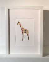 Small Giraffe (medium frame 23x32cm)