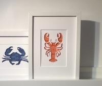 Lobster (large frame 32x42cm)
