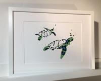 Turtles (extra large frame 52x42cm)