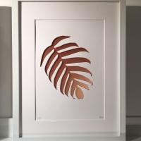 Banana Leaf - copper (large frame 32x42cm)