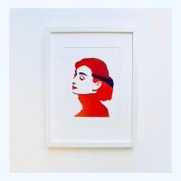 Audrey (Large frame 32x42cm)