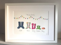 Welly Picture (Large frame 42x32cm)
