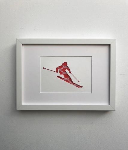 Skiing (medium frame 23x32cm)