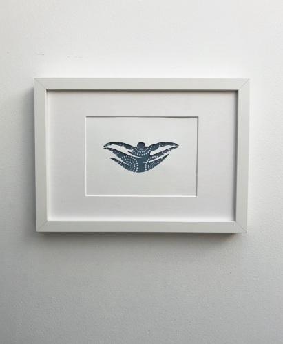 Swimming (medium frame 23x32cm)