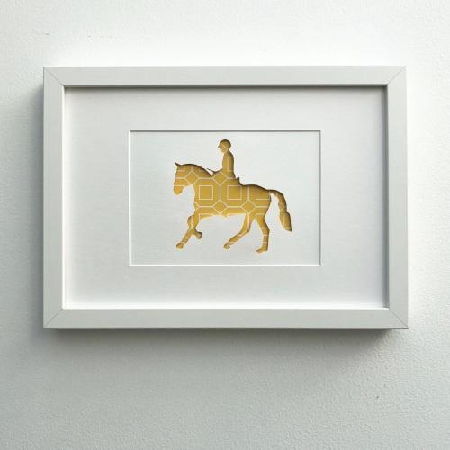 Horse riding (medium frame 23x32cm)