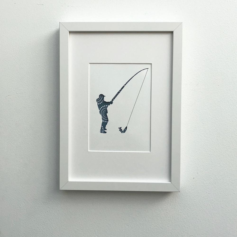 Fishing (medium frame 23x32cm)