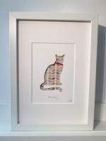 Cat (medium frame 23x32cm)