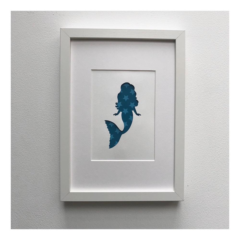 Mermaid (medium frame 23x32cm)
