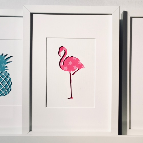 Flamingo (medium frame 23x32cm)