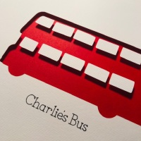 London Bus (Medium frame 23x32cm)