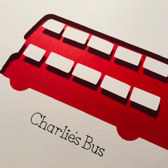 London Bus (Medium frame 23x32cm)