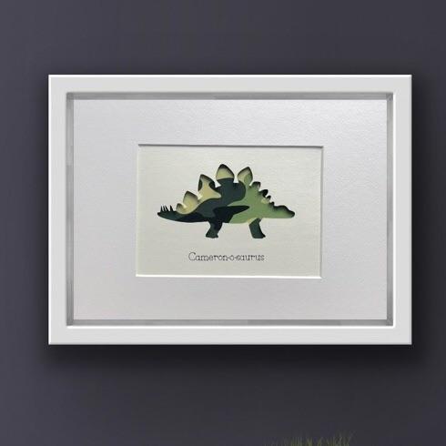 Dinosaur (Camo) medium frame 23x32cm
