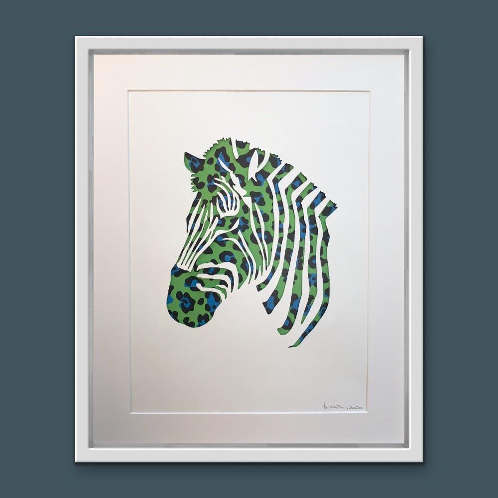 Zebra (Extra Large Frame 42x52cm)