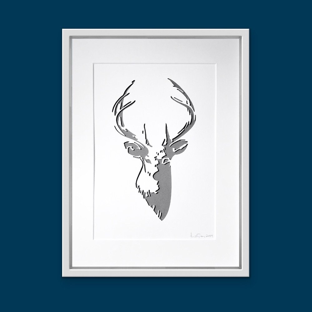 Stag (Extra Large Frame 42x52 cm)