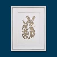 Hares (extra large frame 42x52cm)