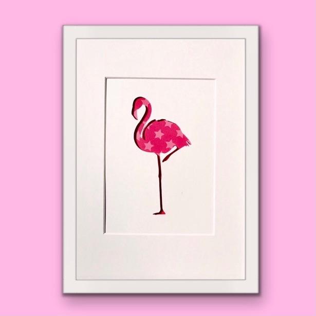 Flamingo (Medium frame 23x32cm)