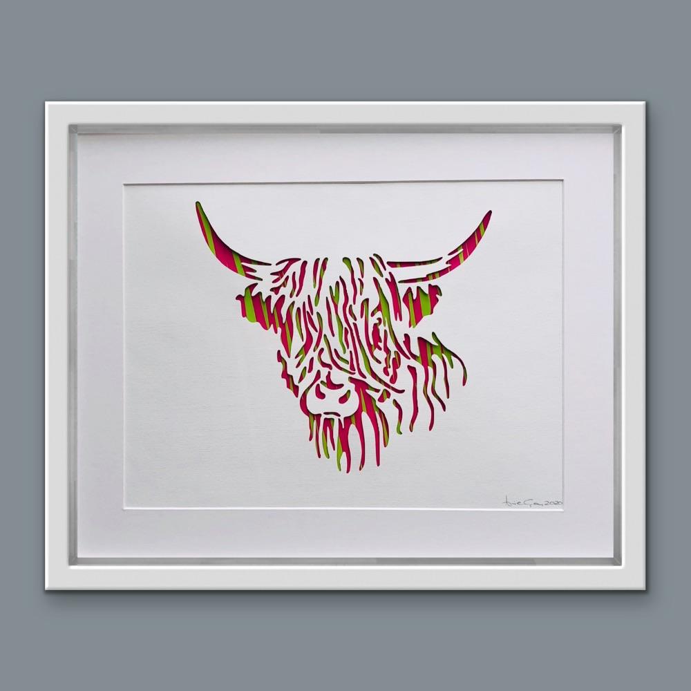 Highland Cow ( Large Frame 42x32 cm)