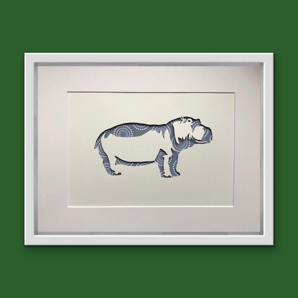 Hippo (Large frame 32x42cm)