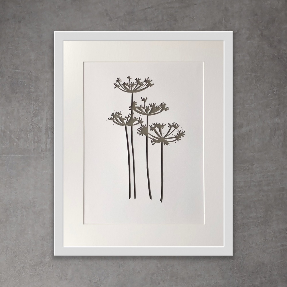 Cow Parsley (extra large frame 52x52cm)