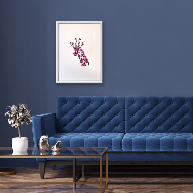 Giraffe (Extra Large frame 42x52 cm)