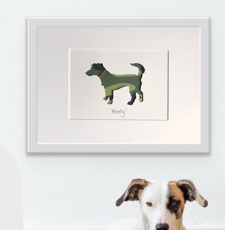 Jack Russell Terrier (medium frame 23 x 32 cm)