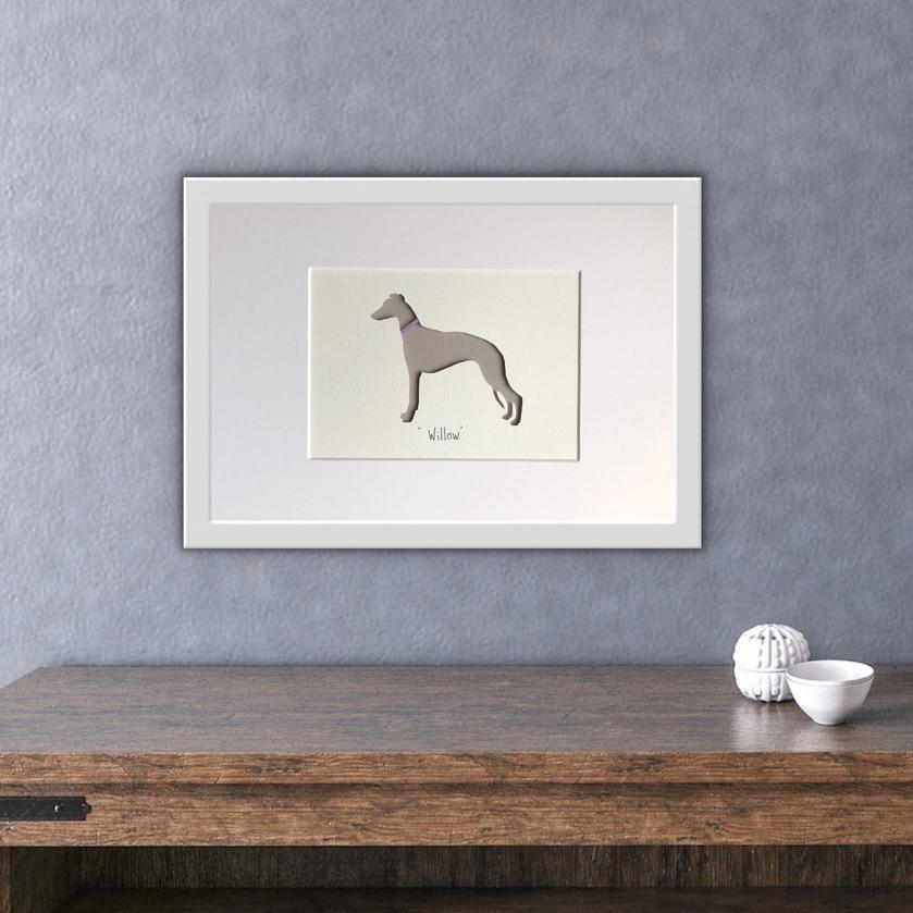 Whippet (medium frame 23x32cm)