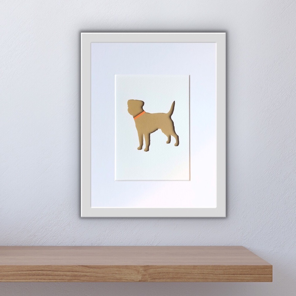 Border Terrier (medium frame 23 x 32cm)
