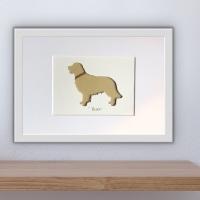 Golden Retriever (medium frame 23 x 32 cm)
