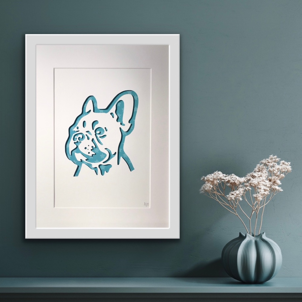 French Bulldog (medium frame 23 x 32 cm)