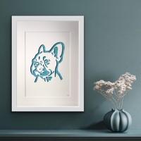 French Bulldog (large frame 42 x 32 cm)