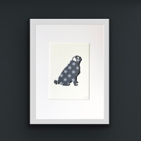 Pug (medium frame 23 x 32 cm)