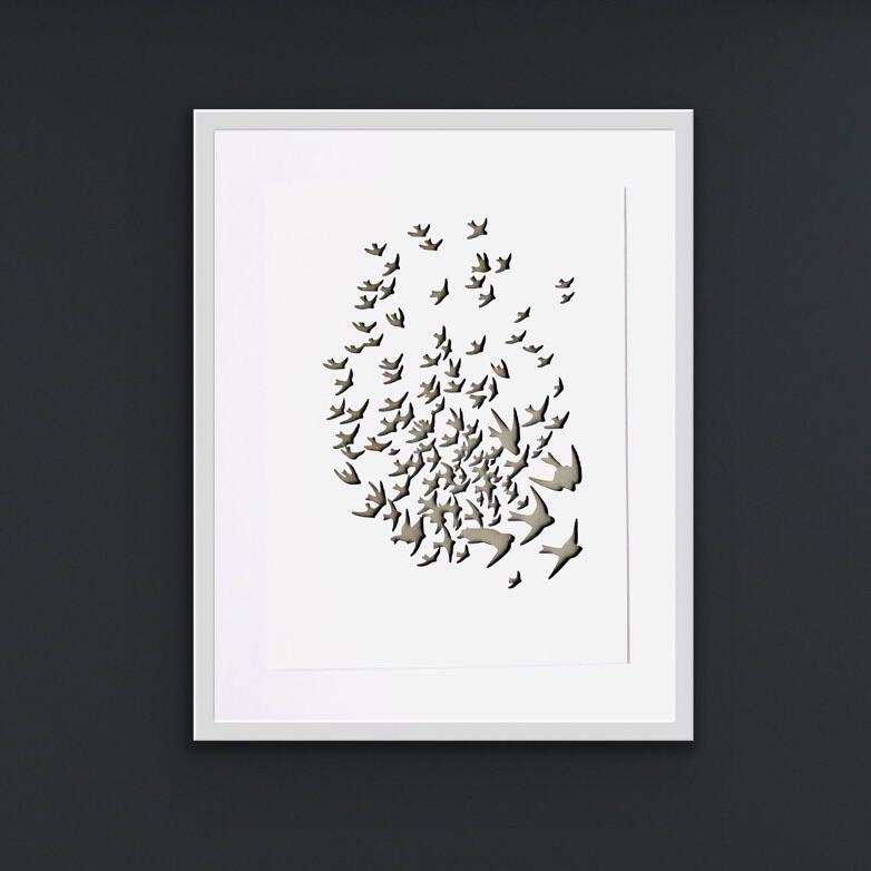 Birds (NOW IN AN XL 42x52cm RECTANGULAR frame - not shown))