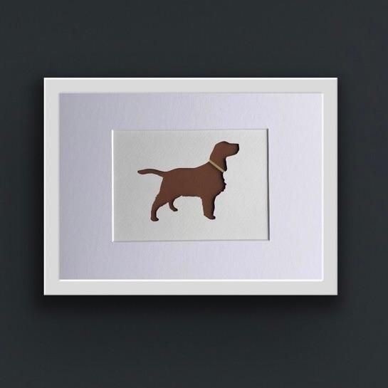 Spaniel (Springer) (Medium frame 23 x 32cm)