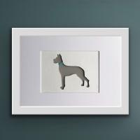 Great Dane (Medium frame 23 x 32 cm)