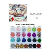 Giant glitter snap clips