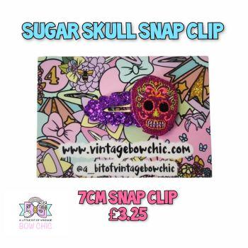 Sugar Skull Snap Clip
