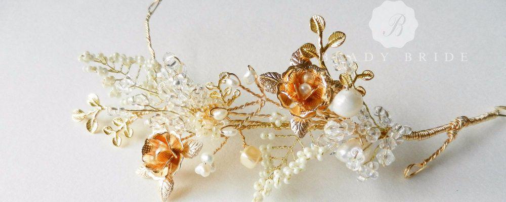 Rosea-Delicate- intricate bridal hair accessory-head piece by Beady Bride-U