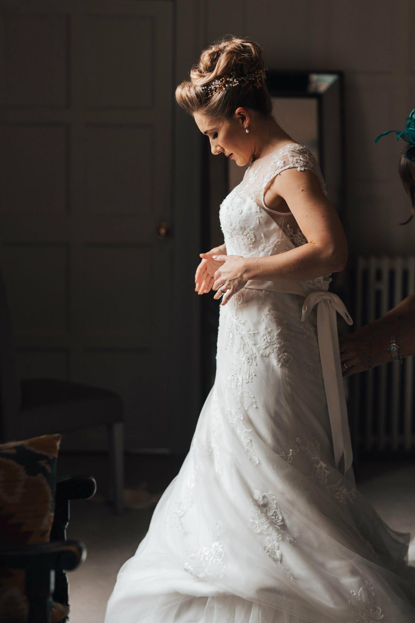 Colourful bridal and non-bridal wedding hair accessories