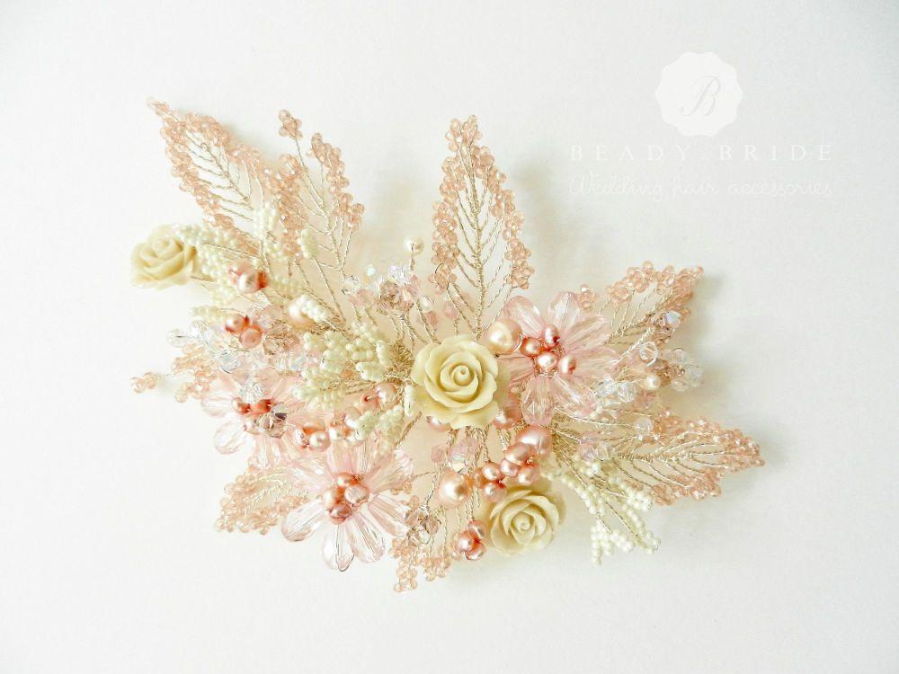 Bespoke floral bridal hair accessories-UK (3)