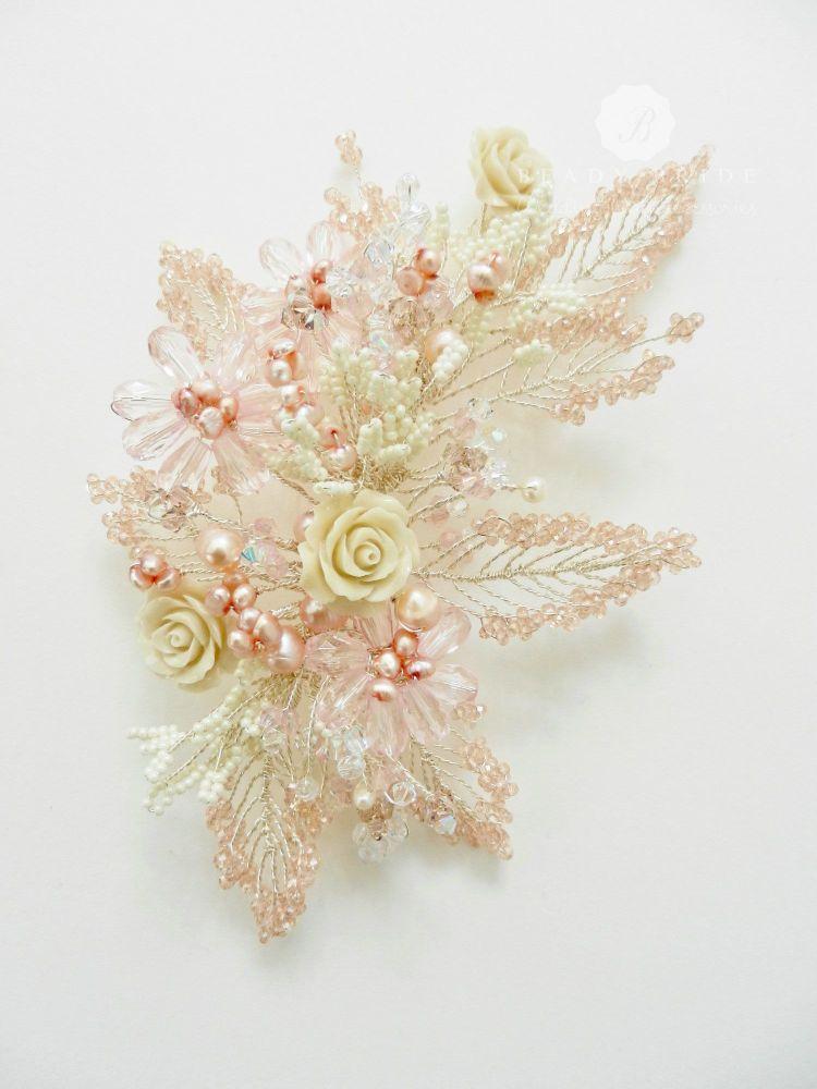 Bespoke floral bridal hair accessories-UK (5)