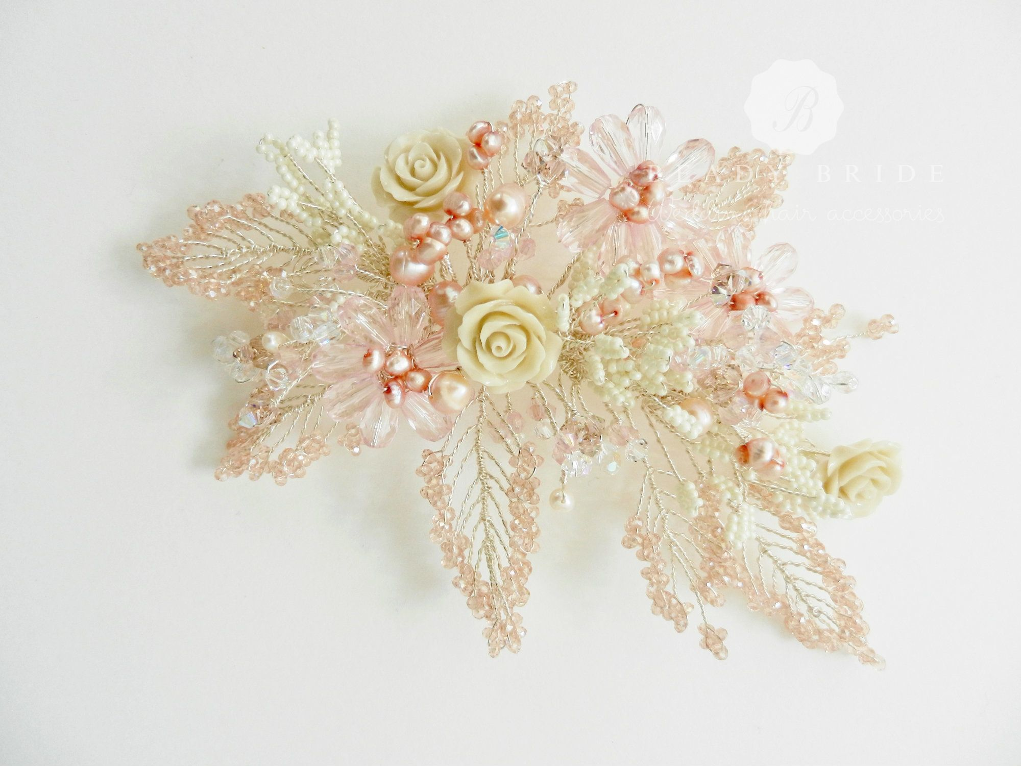 Delicately hand made floral bridal-wedding hair accessoriesby Beady Bride-UK