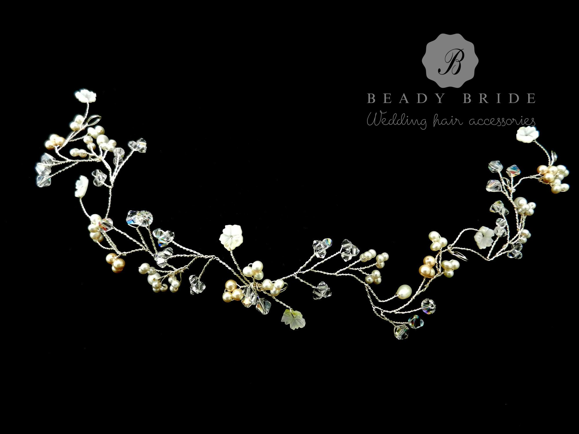Custom made bridal hair pin accessories-Gloucestershire-UK